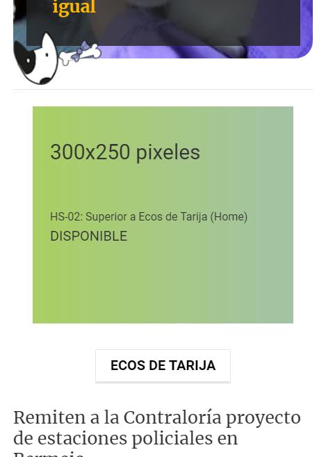 HS-02: Superior a Ecos de Tarija (Home)
