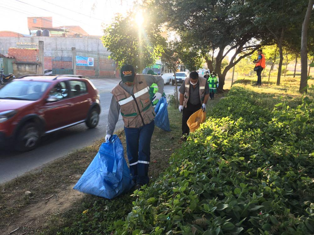 EMAT realizó la limpieza de la Triple Vía al Chaco