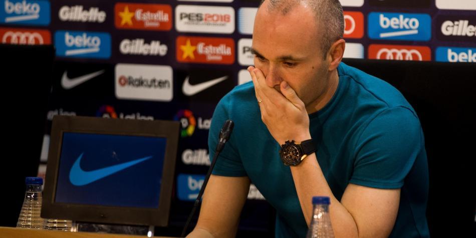Iniesta anuncia que dejará Barça a final de temporada