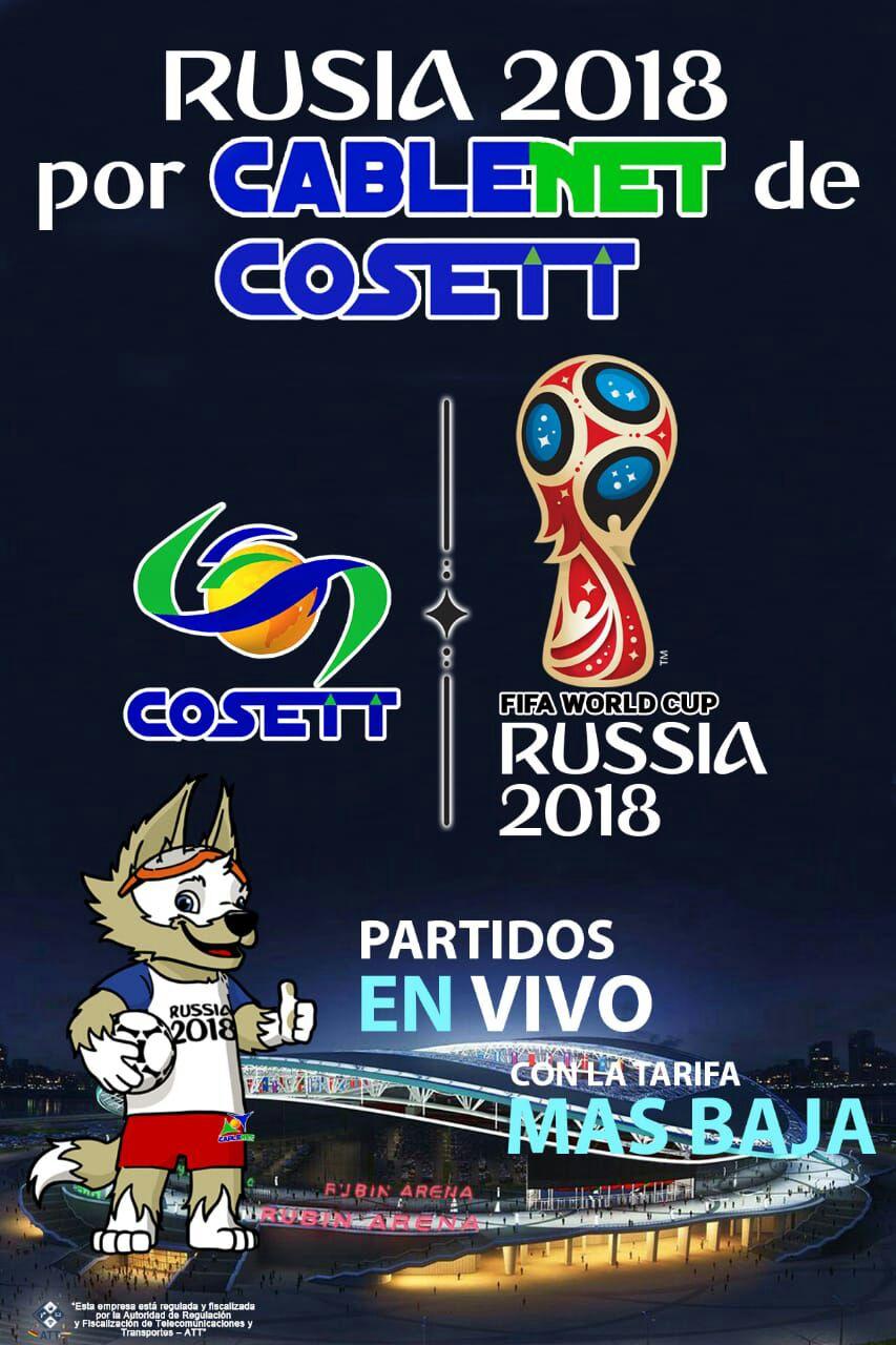 Cosett confirma que transmitirá el Mundial