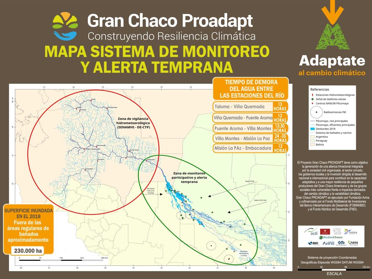 Alerta en el Pilcomayo sube a roja y piden máxima precaución en la cuenca después de Villa Montes