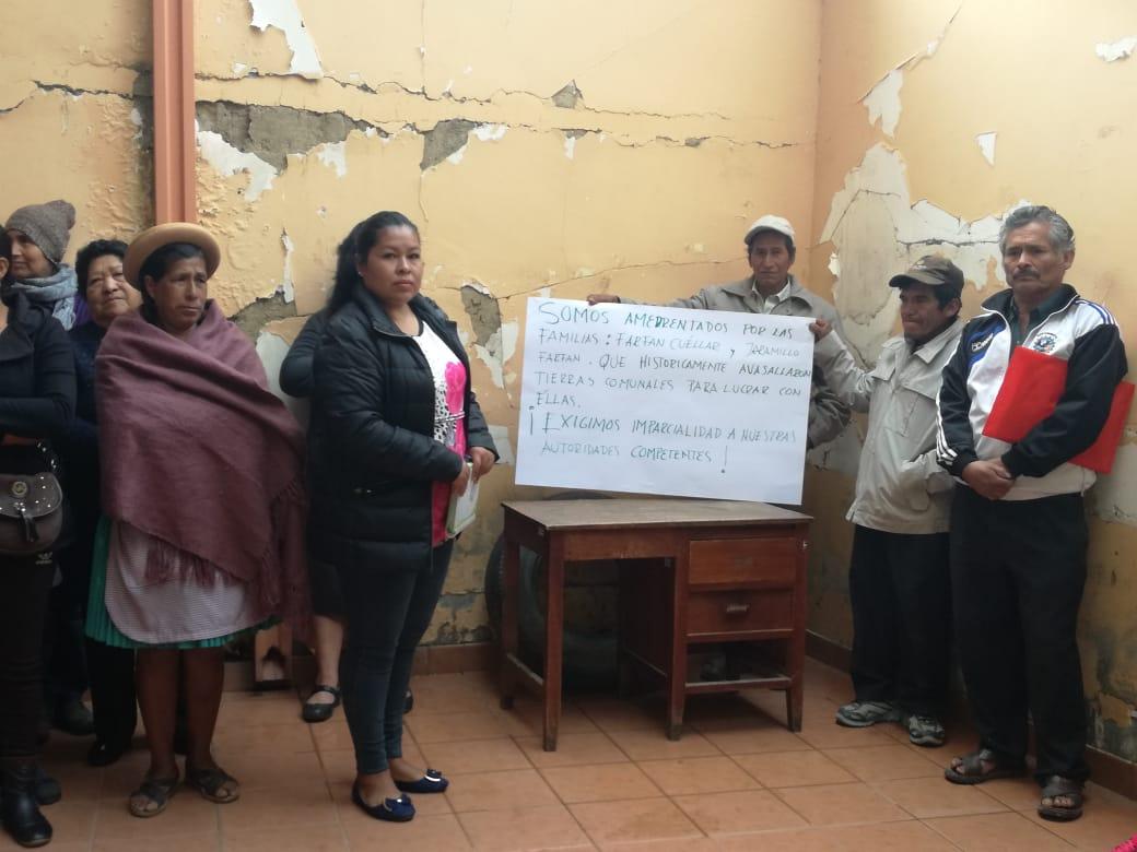 Conflicto de tierras genera amenazas, denuncias y amedrentamientos en comunidad San Antonio la Cabaña