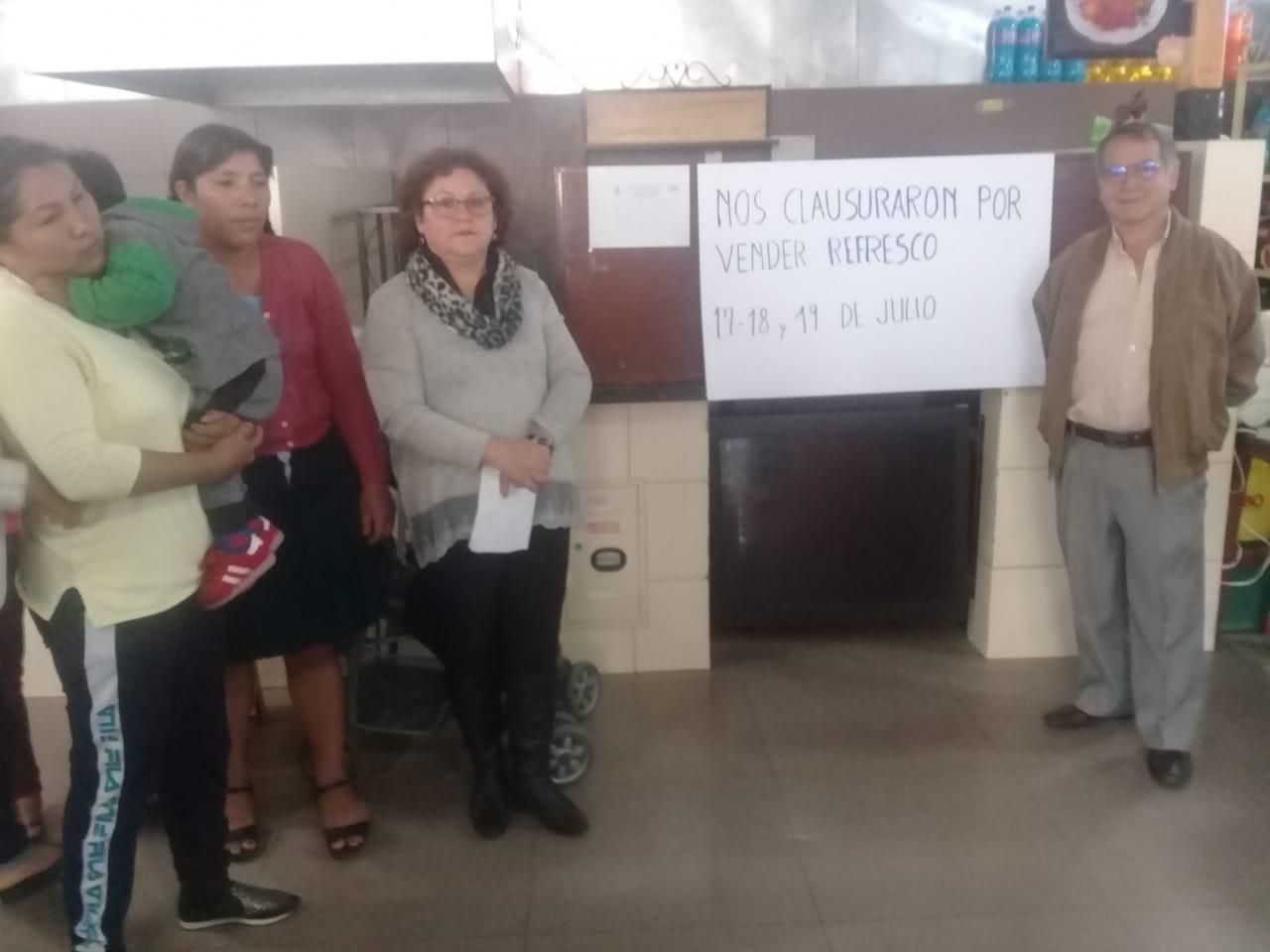 Clausuran puesto de comida de doña Pastora en el mercado Central de Tarija