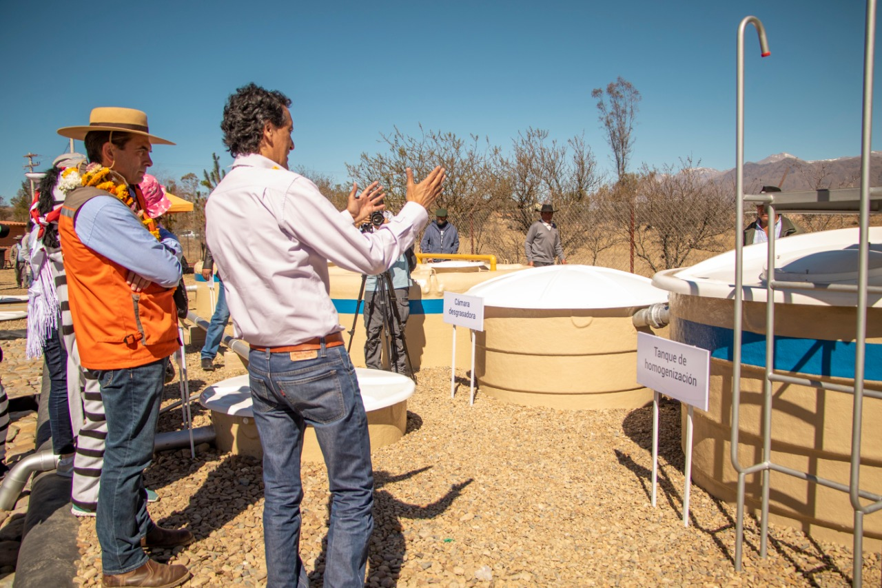 Alcaldía de Tarija realizó entrega provisional de la planta de tratamiento en San Andrés