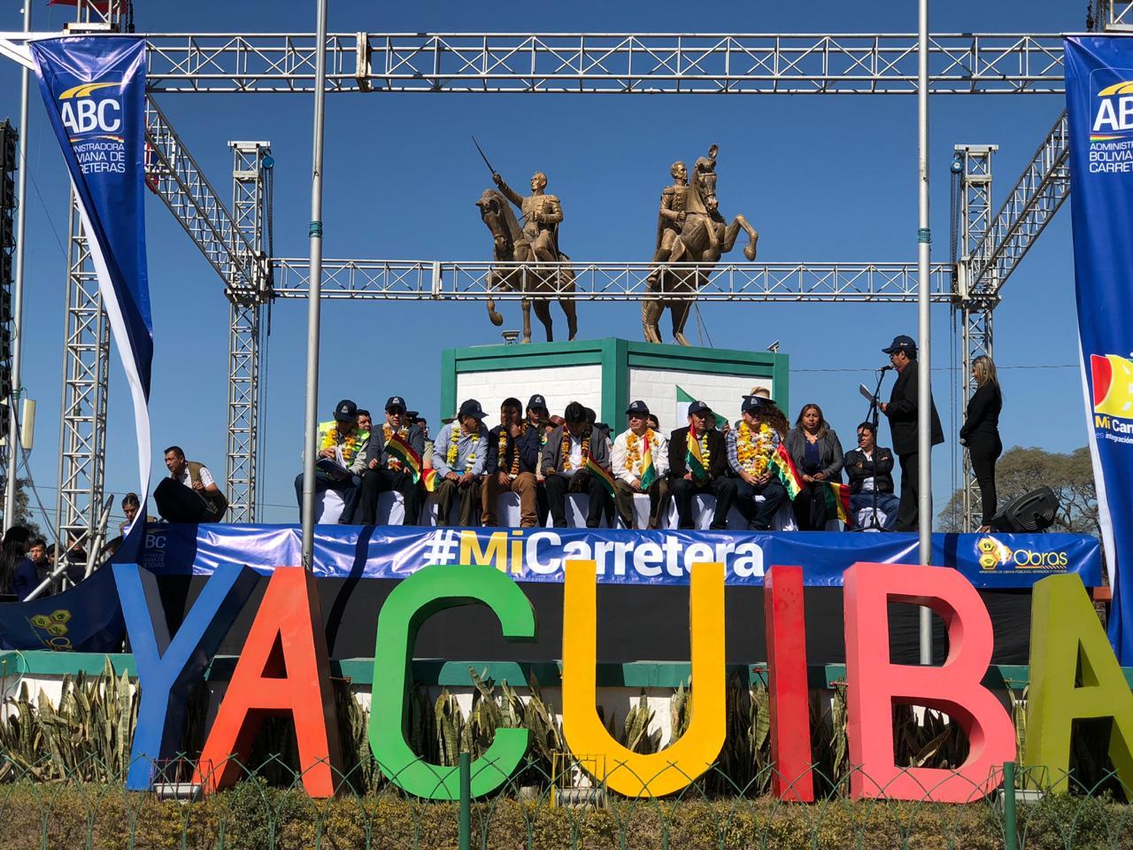 Arranca la doble vía en Yacuiba, cada kilómetro cuesta Bs 33,8 millones