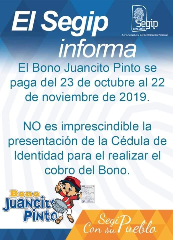 """Cédula de identidad no es requisito """"imprescindible"""" para recibir Bono Juancito Pinto"""