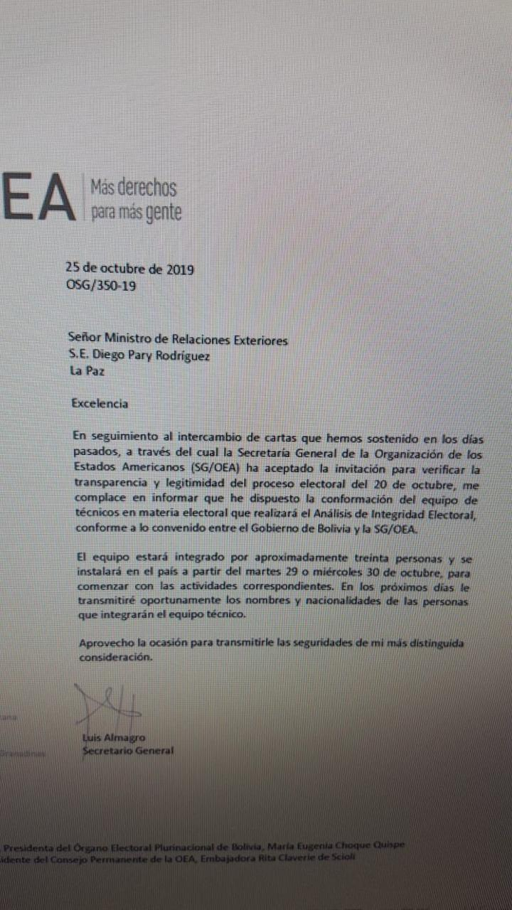 """Auditoría de la OEA tensa la """"unidad"""" de la oposición"""