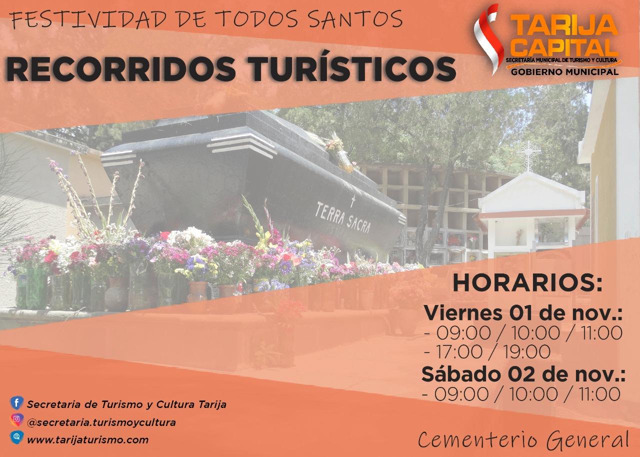Conoce las rutas de acceso para visitar los cementerios en Tarija