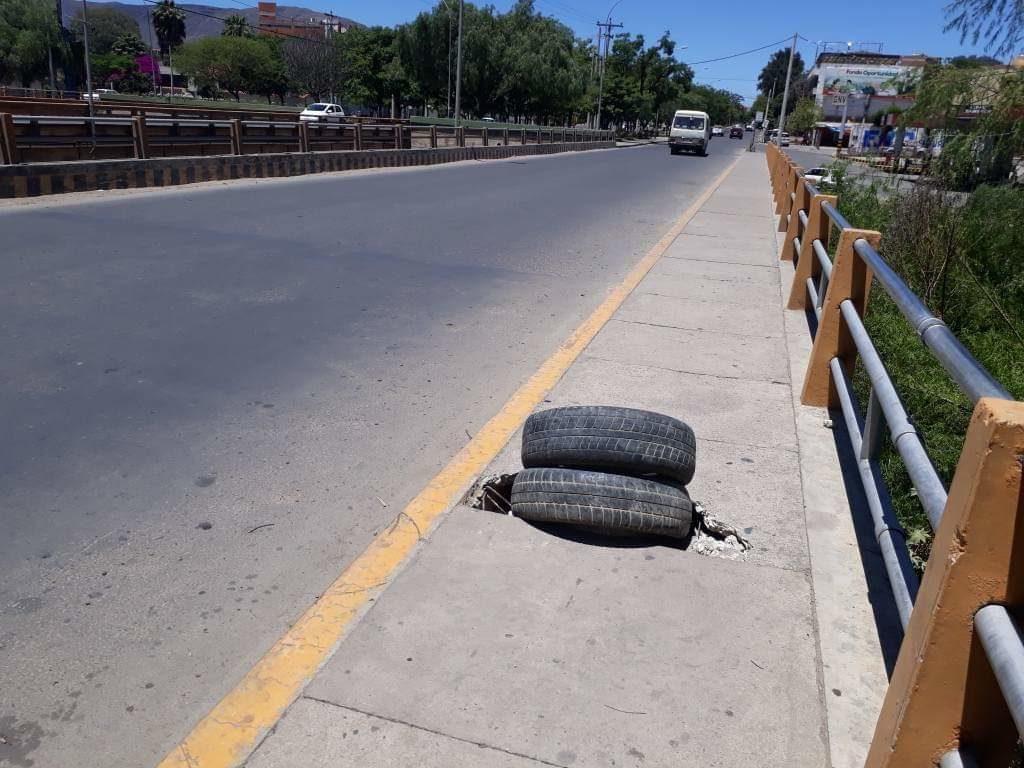 Los morros usados en el Paro afectan el asfalto de la ciudad de Tarija