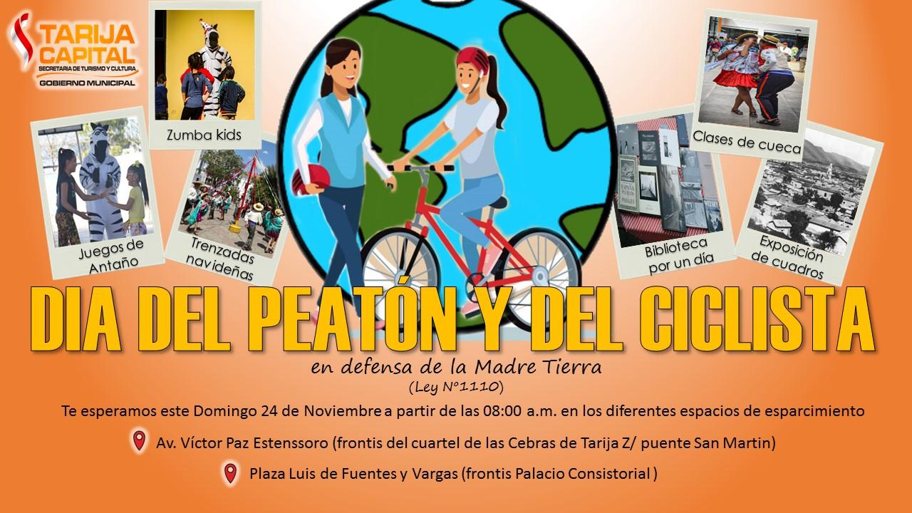 Este 24 de noviembre se celebra el Día del Peatón en Tarija
