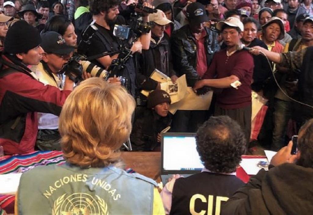 """ONU documentó en Bolivia hechos que podrían ser """"graves violaciones a los DDHH"""""""