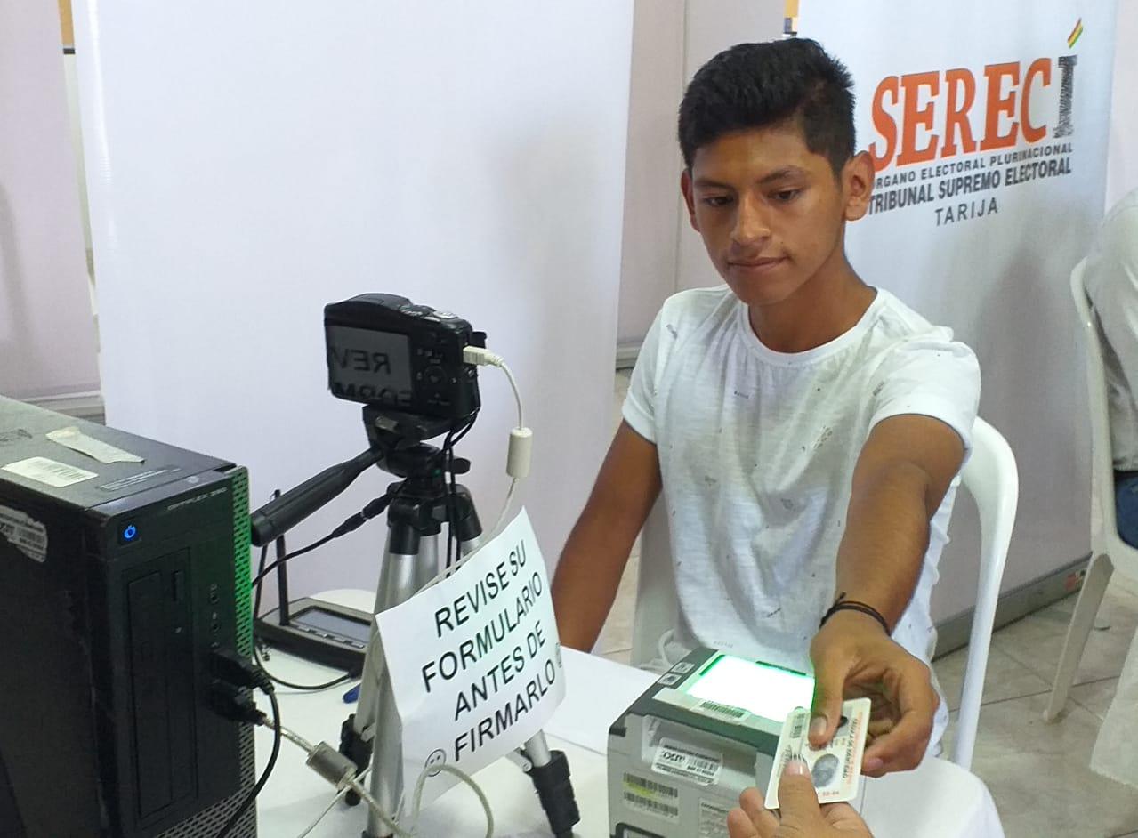Existen dos puntos de empadronamiento biométrico en Tarija