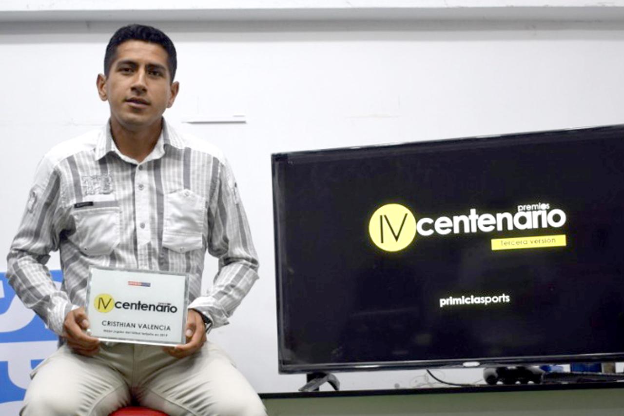 Cristhian Valencia se queda con el premio IV Centenario