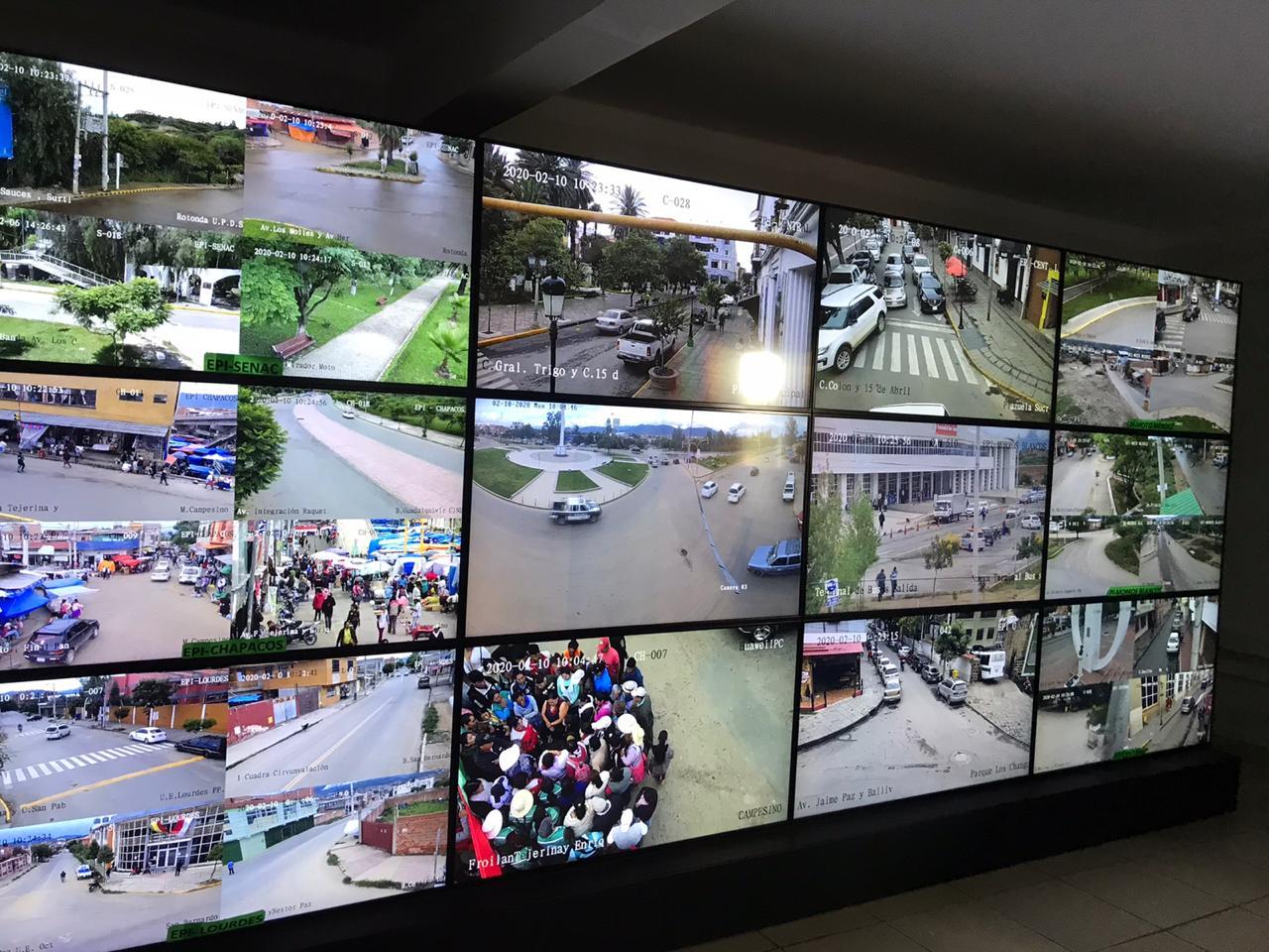 151 cámaras de vigilancia garantizan que el Carnaval Chapaco sea el más seguro de Bolivia