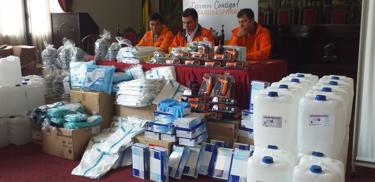 Sedes recibe material de bioseguridad para enfrentar el coronavirus en Tarija