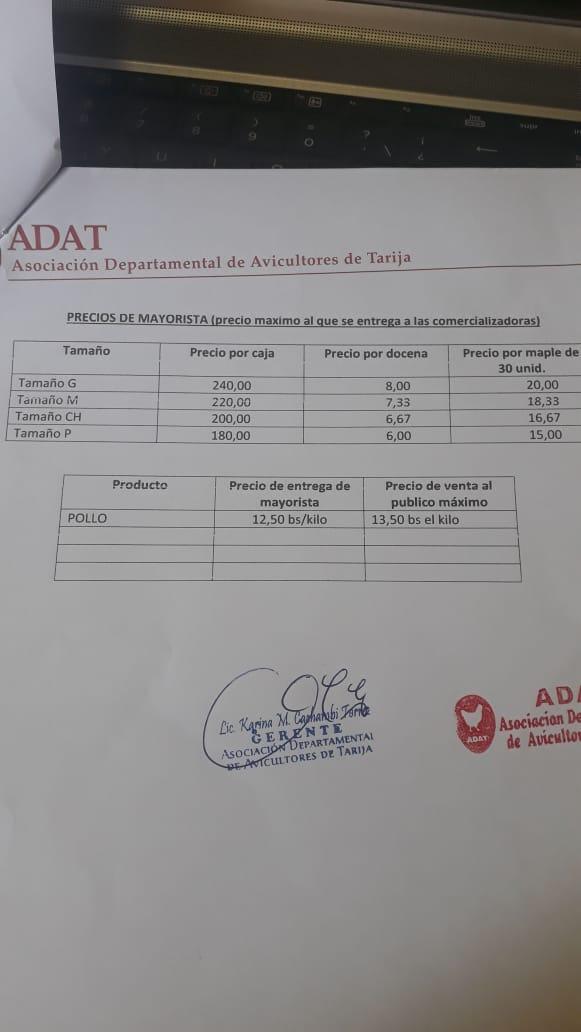 """Denuncian que """"intermediarios"""" suben el precio del huevo en Tarija"""